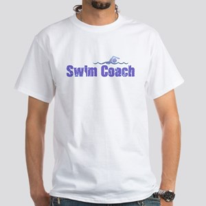 SWIM COACH White T-Shirt