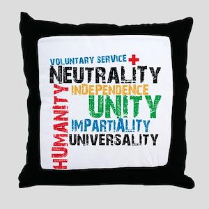 Red Cross - Throw Pillow