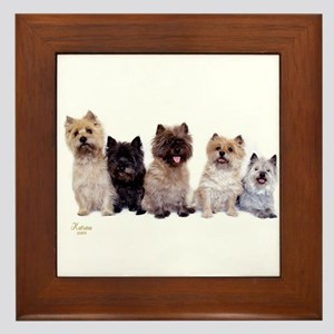 Cairn Terriers Framed Tile