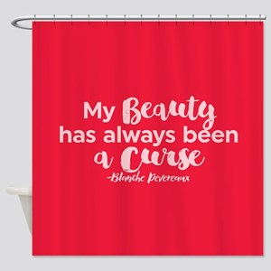 GG Blanche Beauty Curse Shower Curtain