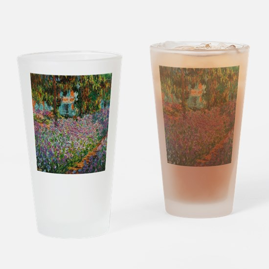 Funny Claude monet art Drinking Glass