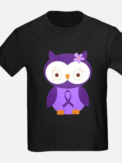 Purple Ribbon Awareness Owl T-Shirt