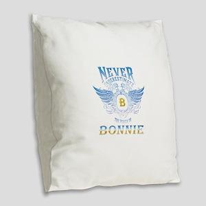 bonnie Burlap Throw Pillow