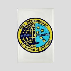 USS Ticonderoga CVA 14 Rectangle Magnet