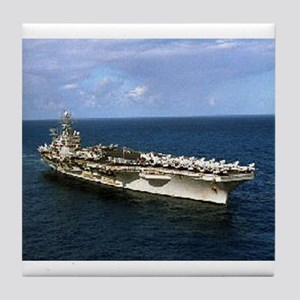 USS Theodore Roosevelt Ship's Image Tile Coaster