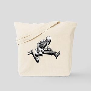 Skeleton Guitarist Jump Tote Bag