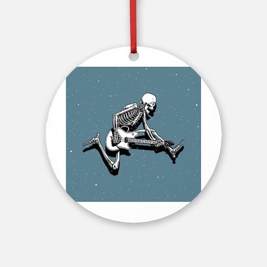 Skeleton Guitarist Jump Ornament (Round)