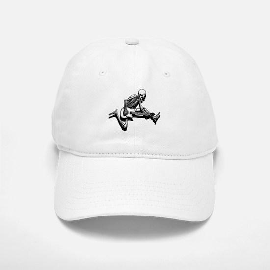 Skeleton Guitarist Jump Baseball Baseball Cap