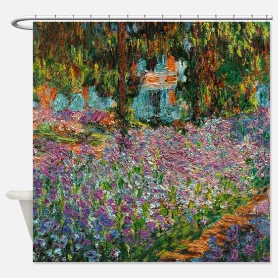 Irises In Monets Garden At Giverny Shower Curtain