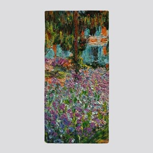 Irises In Monets Garden At Giverny Beach Towel
