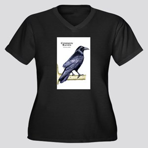 Common Raven Women's Plus Size V-Neck Dark T-Shirt