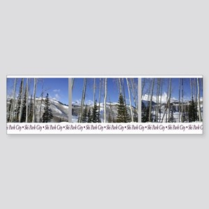 Park City on top of Deer Vall Bumper Sticker
