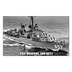 USS BRISTOL Rectangle Sticker 50 pk)