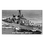 USS BRISTOL Rectangle Sticker