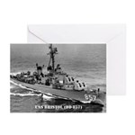 USS BRISTOL Greeting Cards (Pk of 10)