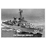 USS BRISTOL Large Poster