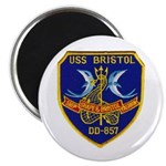 "USS BRISTOL 2.25"" Magnet (100 pack)"