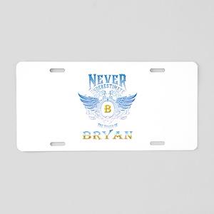 bryan Aluminum License Plate