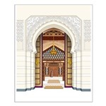 Moroccan Doors Small Poster
