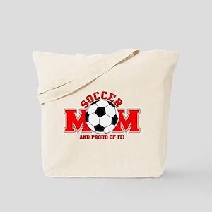 Proud Soccer Mom Tote Bag
