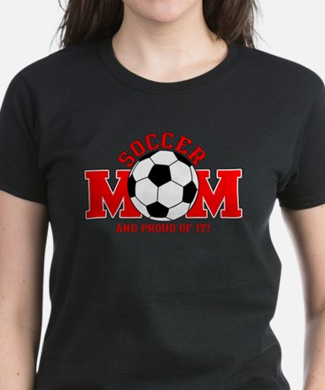 Proud Soccer Mom Women's Dark T-Shirt