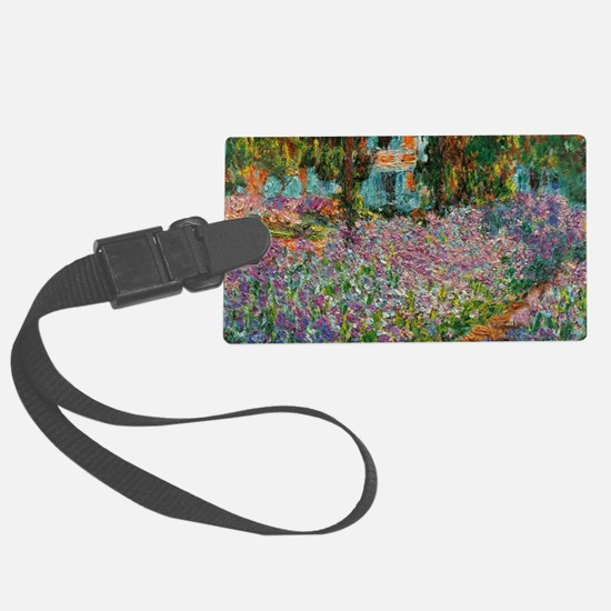 Irises In Monets Garden At Giver Luggage Tag
