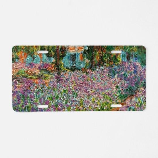 Irises In Monets Garden At Aluminum License Plate