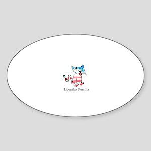 Liberalus Pussilia Oval Sticker