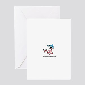 Liberalus Pussilia Greeting Card