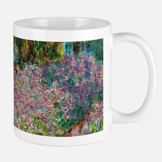 Irises In Monets Garden At Giverny Mugs