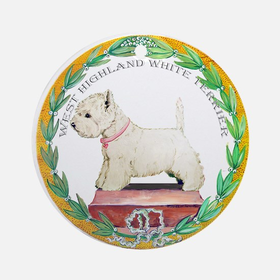 Westie Champion Ornament (Round)