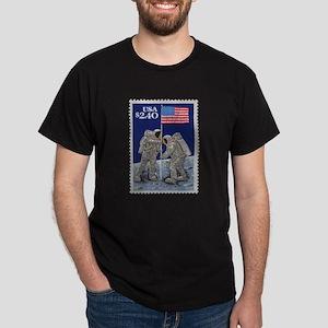 Apollo 11 Moon Landing 1969 Black Space T-Shirt