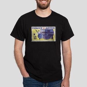 Pioneer Jupiter Flyby Black T-Shirt