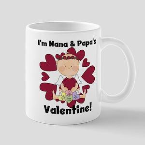 Girl Nana Papa's Valentine Mug