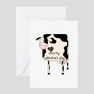 Cow Valentine Greeting Cards Cafepress