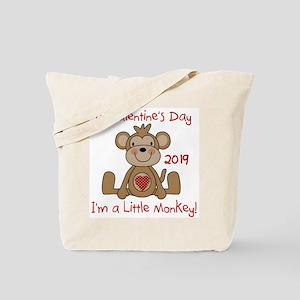 Monkey 1st Valentine Day Tote Bag