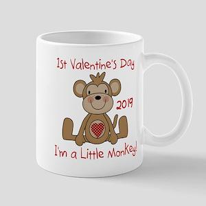 Monkey 1st Valentine Day Mug