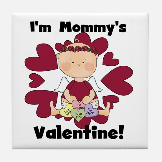 Girl Mommy's Valentine Tile Coaster