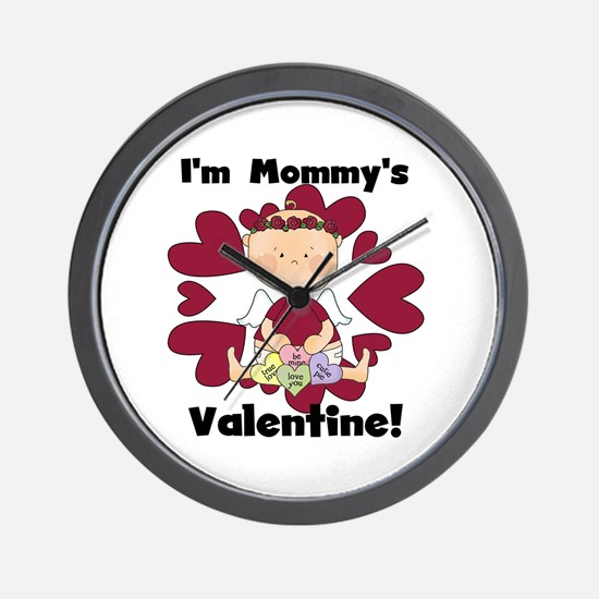 Girl Mommy's Valentine Wall Clock