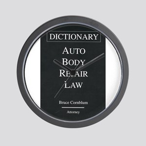 Auto Body Repair Law Wall Clock