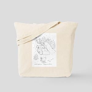 Snowman Sleigh Tote Bag