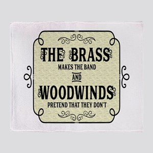 Brass vs Woodwinds Throw Blanket