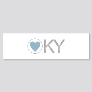 Kentucky Blue Heart Bumper Sticker