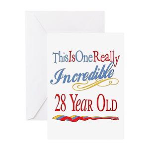 28th Birthday Greeting Cards