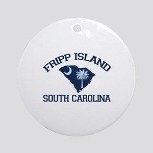 Fripp Island - Map Design Ornament (Round)