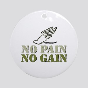No Pain No Gain Track Ornament (Round)