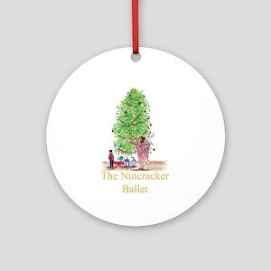 Clara n Nutcracker Ballet Ornament (Round)