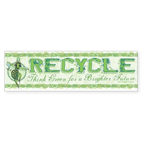 Enviro Green Bee Bumper Sticker