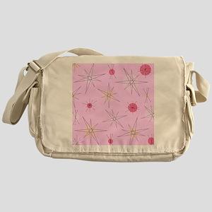 Pink Atomic Era Art Messenger Bag