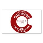 Colorado Rectangle Sticker